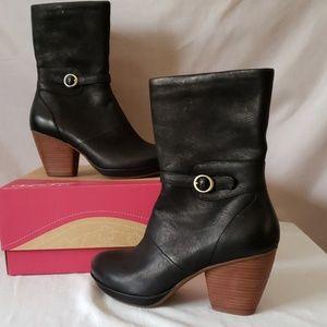 Dansko Nubuck Leather Mid Calf Boot
